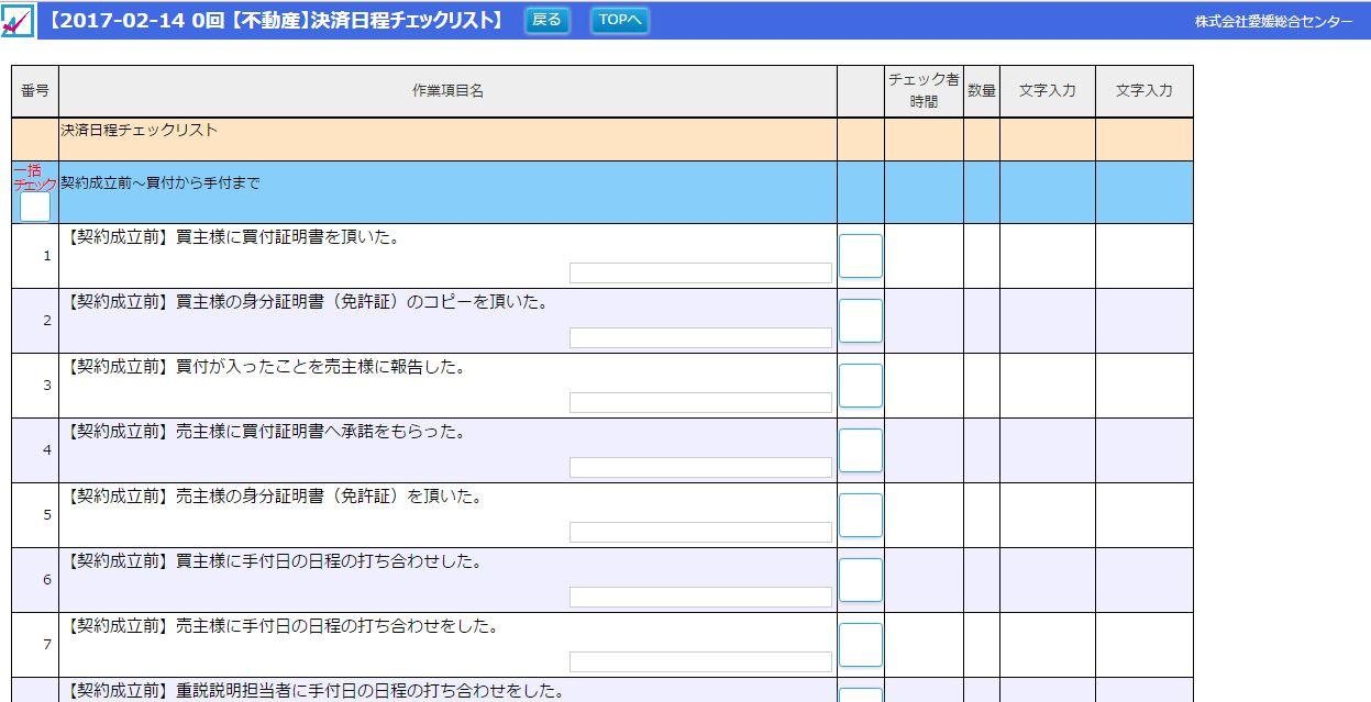 不動産 チェック リスト 情報共有