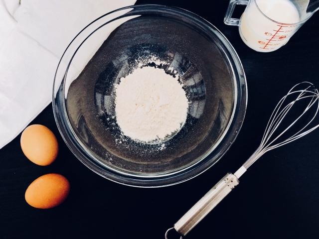 ホットケーキ作りの材料